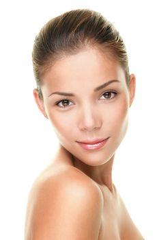 Beauty skin care face portrait of asian woman