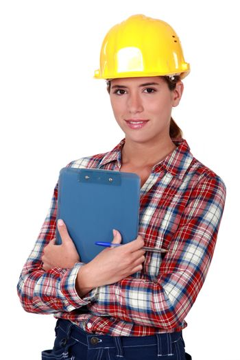 Woman engineer in construction industry