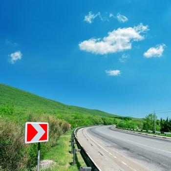 picture of asphalt countryside road in mountain