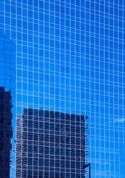 Downtown Houston in Texas mirror skyscrapers