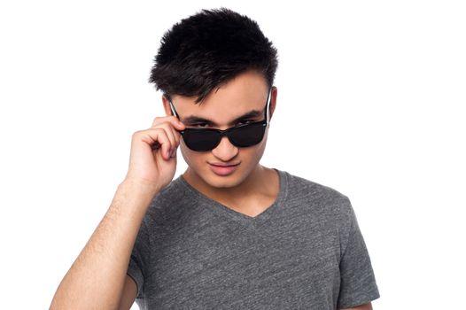 Fashion guy staring at you