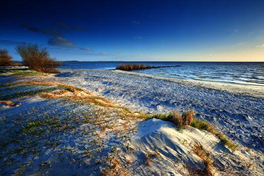 sunny sand beach by North sea