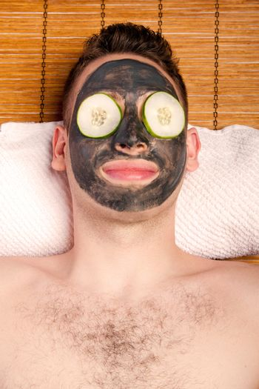 Male facial mask skincare