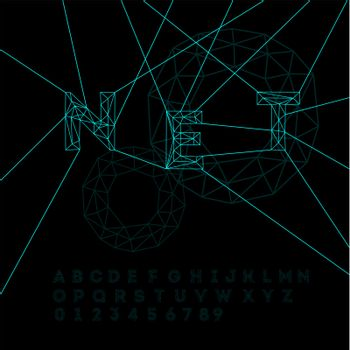 Space technology alphabet, vector Eps10 illustration.