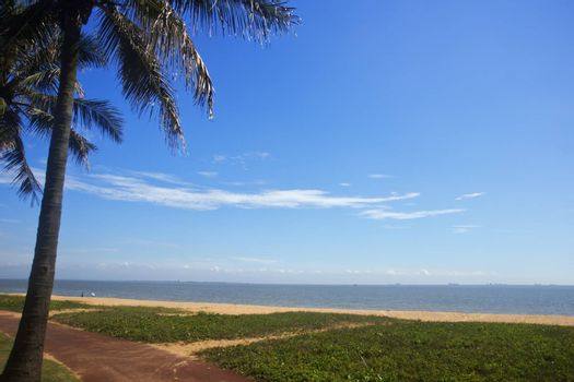 Tropical seaside scenery - taken in Hainan Island, China