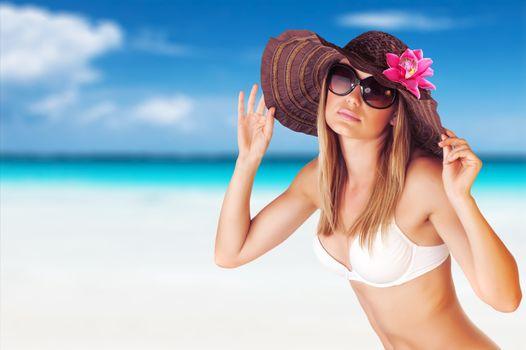 Seductive female on the beach