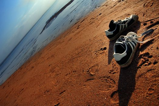 Shoes of beach the traveller