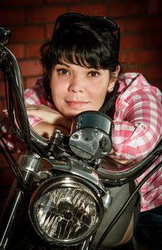 Real biker girl
