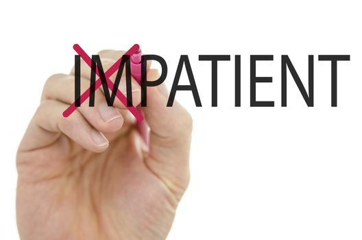 Turning the word Impatient into Patient