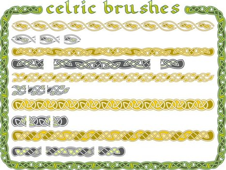 Celtic ornament in a vector seamless for creation of brushes