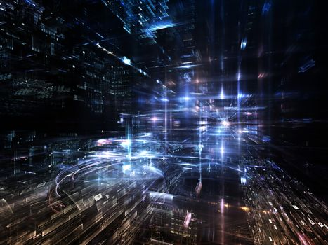 Lights of Fractal Metropolis