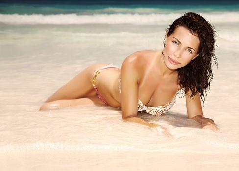 Gorgeous female on the beach
