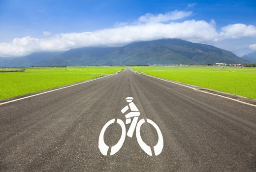 country road for bicycle only