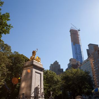 Central Park Golden Statue