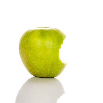 image of bitten green apple