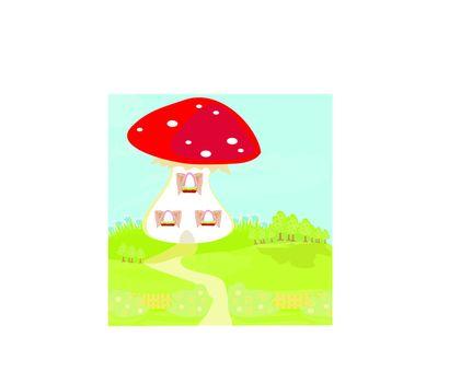 funny cartoon mushroom house