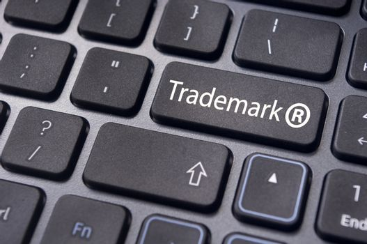 message on keyboard enter key, to illustrate the concepts of trademark.