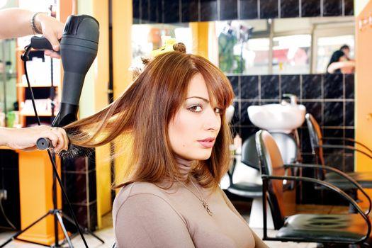 satisfied customer in a hair salon