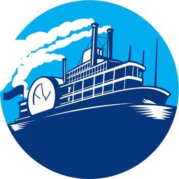 Steamboat Ferry Passenger Ship Retro