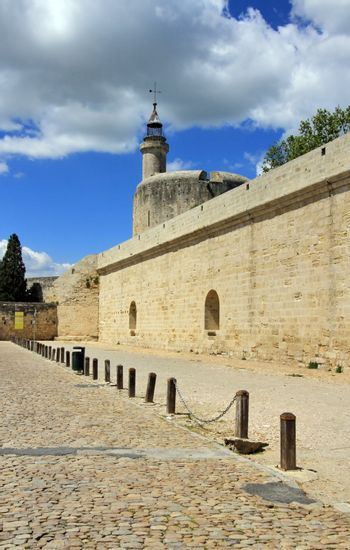 Fortification wall and tower of Constance at Aigues-Mortes, Cama