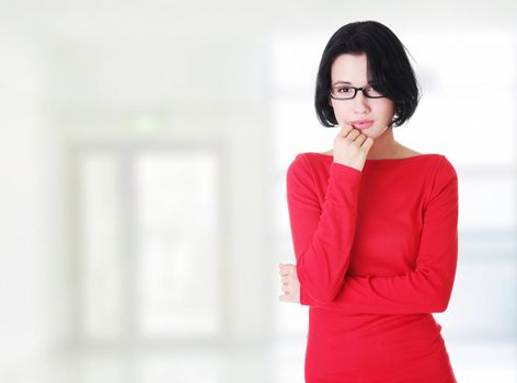 Thoughtful woman with problem