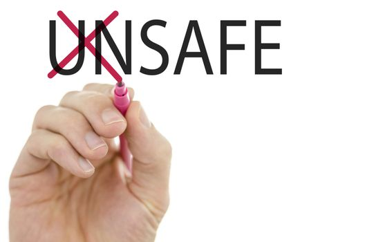 Changing word Unsafe into Safe