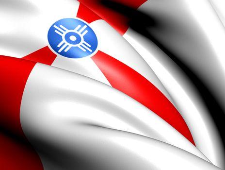 Flag of Wichita, USA.