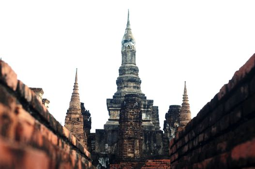 Wat Maha That in the Historical Park of Sukhothai
