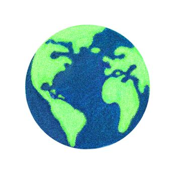 Globe of Earth painting