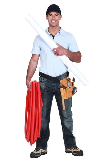 Plumber with piping