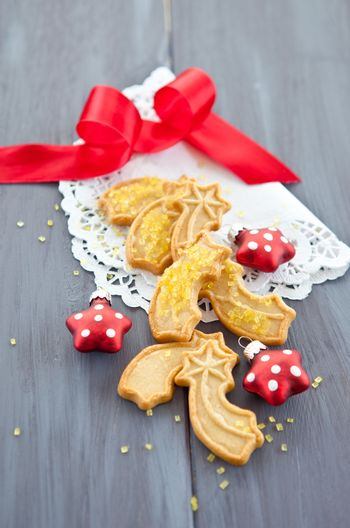 Star-shaped cookies for christmas