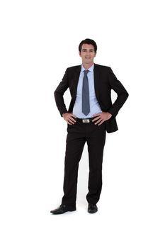 Full-length portrait of a businessman