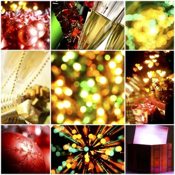 collage of christmas cards