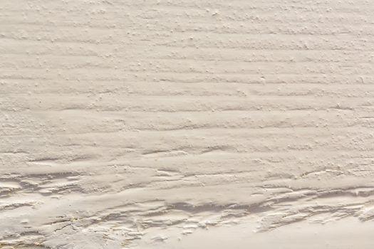 Closeup shot of pristine white sand texture, Maldives
