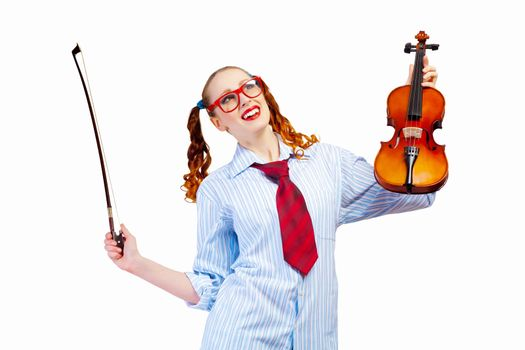 Young woman violinist