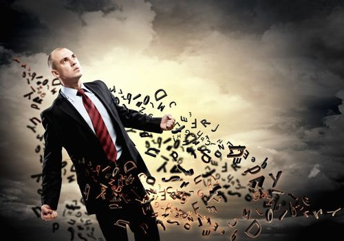Businessman in anger