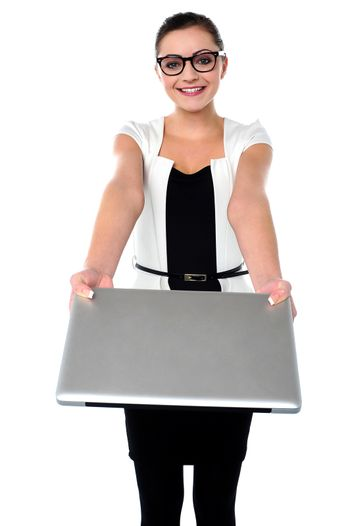 Here is your brand new laptop