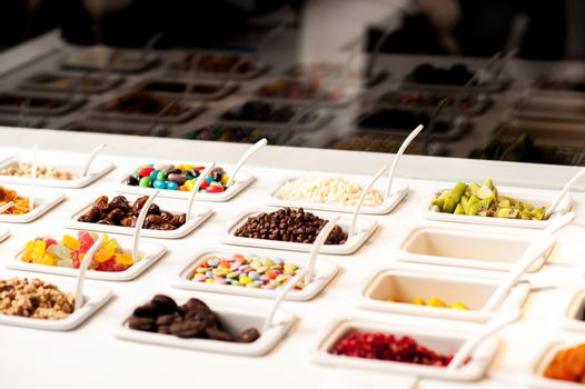 Colorful toppings to add extra flavor