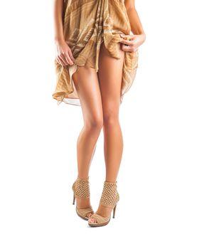 legs of flirting female
