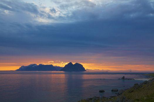 Midnight sun in Scandinavia