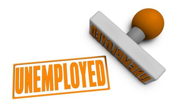 Unemployed Stamp