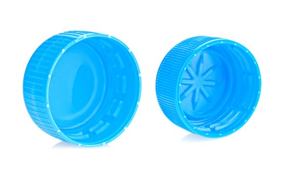 two blue lid isolated
