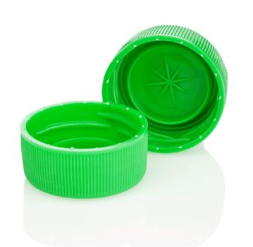 two green lid isolated
