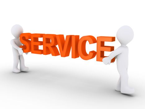 Two persons provide service