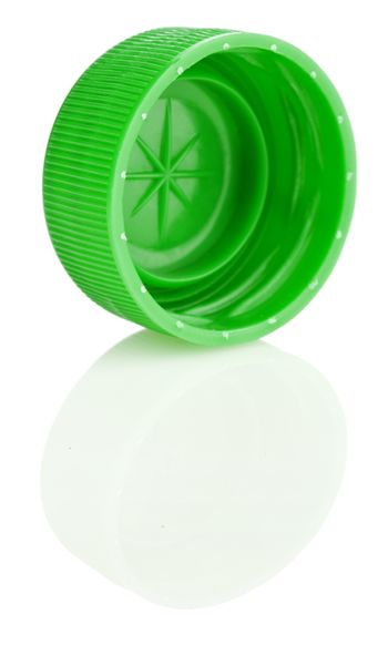 green lid with reflection