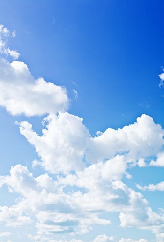 brightly blue sky
