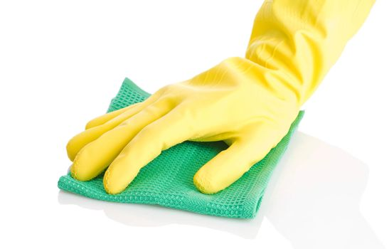 glove and rag