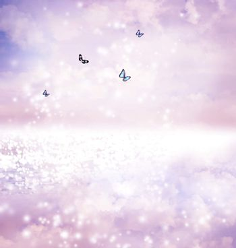 Butterflies on fantasy lake
