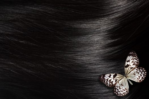 Black hair with butterfly