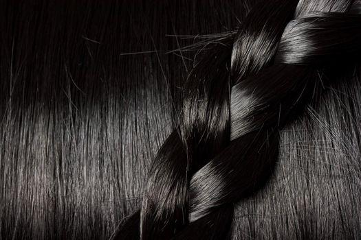 Beautiful black hair with braid